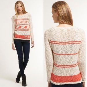 Superdry Wave Rider Knitted Jumper Sweater Crew XS